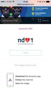 App Aurasma Defibrillatori EMD118