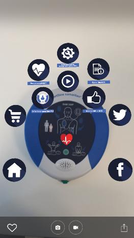 realtà aumentata app defibrillatori
